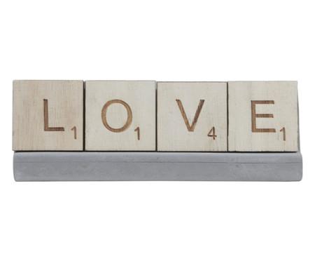 Adorno Letras Love - Cinza | WestwingNow