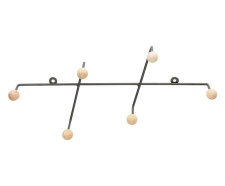 Cabideiro Vertical de Metal Slant - Preto | WestwingNow