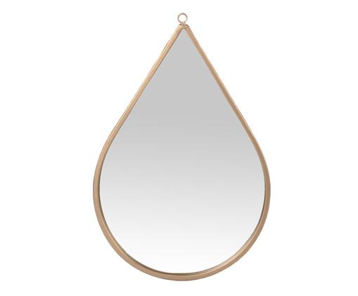 Espelho de Parede Drop - Dourado, Dourado | WestwingNow