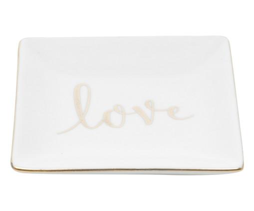Prato Decorativo Cerâmica Elisabeth - Branco, Branco | WestwingNow