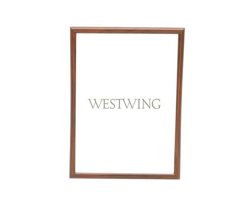 Porta-Retrato Basic - Marrom, Marrom | WestwingNow