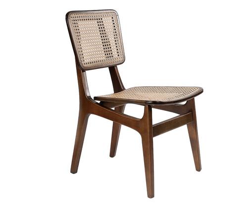 Cadeira em Madeira e Palha Favo Carolina - Marrom, Bege, Madeira, Colorido | WestwingNow