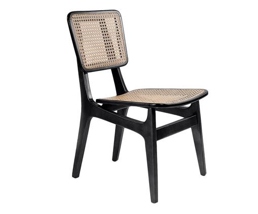 Cadeira em Madeira e Palha Favo Carolina - Preta, Preto, Natural | WestwingNow