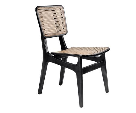 Cadeira em Madeira e Palha Favo Carolina - Preta | WestwingNow