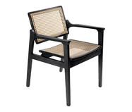 Cadeira com Braços Kansas - Preto | WestwingNow