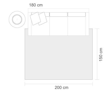 Tapete Belga Geométrico Karla - Azul e Marfim | WestwingNow