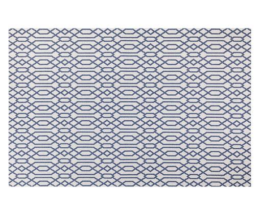 Tapete Turco de Algodão Abstrato Vivian - Bege e Azul, Azul e Marfim | WestwingNow