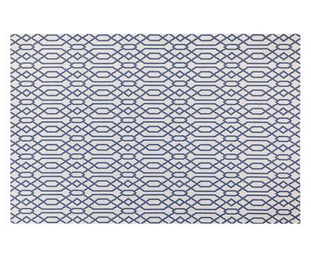 Tapete Turco de Algodão Abstrato Vivian - Bege e Azul | WestwingNow