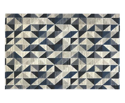 Tapete Turco Triângulos Susanne - Bege e Azul, Bege   WestwingNow