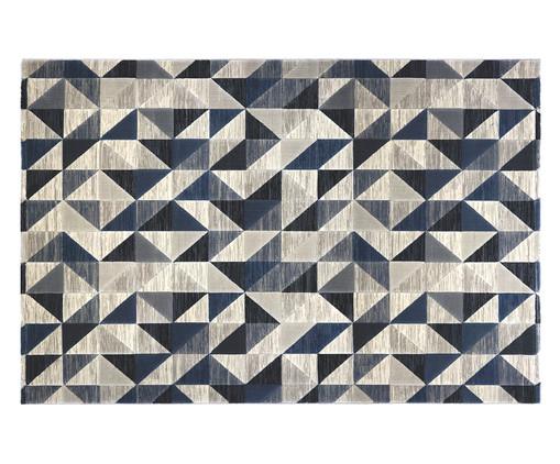 Tapete Turco Triângulos Susanne - Bege e Azul, Bege | WestwingNow