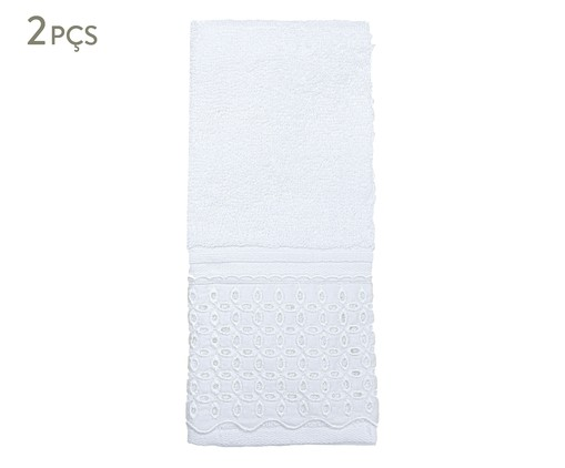 Jogo de Toalhas Egípcias para Lavabo Jonelle 500G/M² - Branco, Branco | WestwingNow