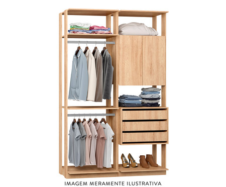 Guarda-Roupa Closet Clothes Lina - Natural | WestwingNow