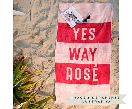 Toalha de Praia Yes! Rosé e Pink - 420 g/m² | WestwingNow