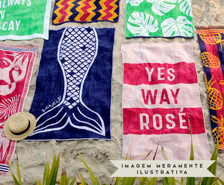 Toalha de Praia Yes! Rosa e Pink | WestwingNow
