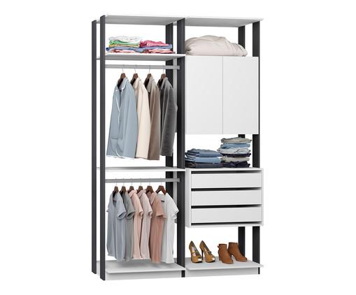 Guarda-Roupa Closet Clothes Lina - Cinza e Branco, Cinza, Branco | WestwingNow
