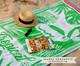 Toalha de Praia Flamingo Exotic Verde e Branco - 420 g/m², Verde   WestwingNow