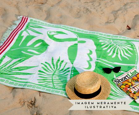 Toalha de Praia Flamingo Exotic Verde e Branco - 420 g/m² | WestwingNow