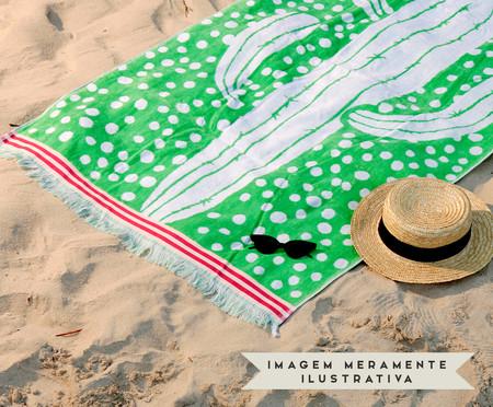 Toalha de Praia Cactus Verde e Branco - 420 g/m² | WestwingNow