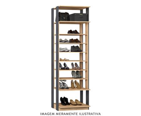 Sapateira Regulável Clothes - Carvalho e Espresso | WestwingNow