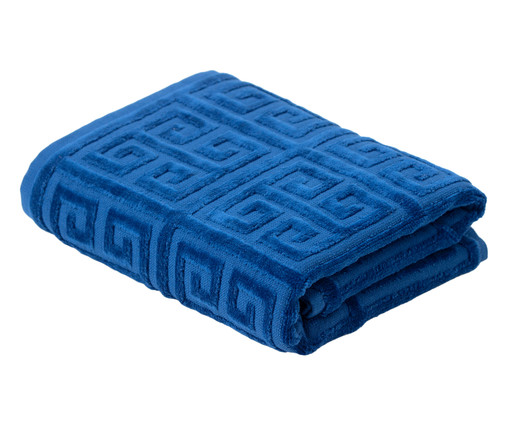 Toalha de Rosto Chave Grega Azul - 460 g/m², Azul | WestwingNow
