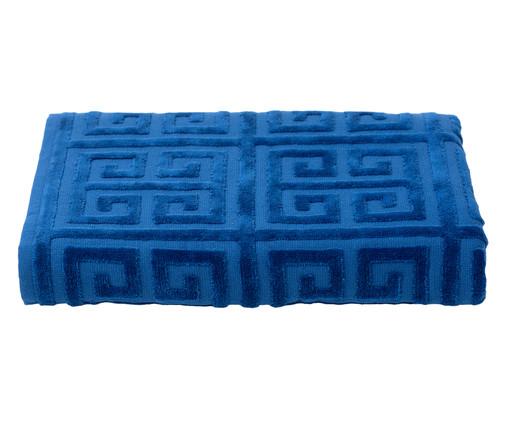 Toalha de Banho Chave Grega Azul - 460 g/m², Azul | WestwingNow