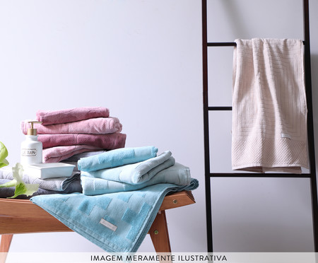 Toalha de Banho Chave Grega Azul - 460 g/m² | WestwingNow