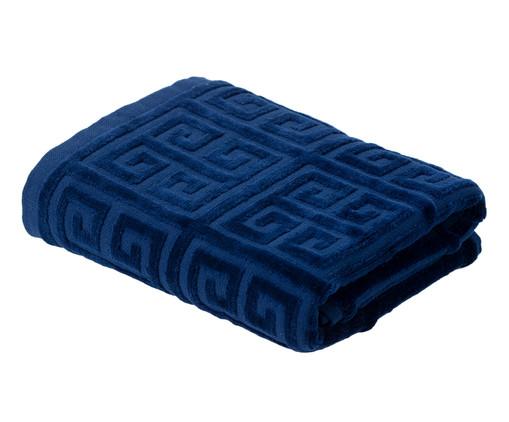 Toalha de Rosto Chave Grega Marinho - 460 g/m², Azul   WestwingNow