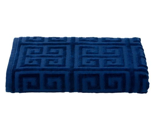 Toalha de Banho Chave Grega Marinho - 460 g/m², Azul | WestwingNow