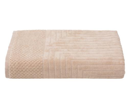 Toalha de Banho Esquadros Cru - 460 g/m², Bege | WestwingNow