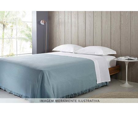 Colcha com Franja In Design em Algodão - Azul | WestwingNow
