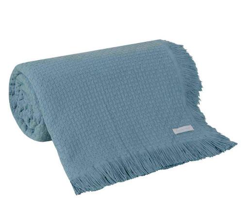 Colcha com Franja In Design em Algodão - Azul, Azul | WestwingNow