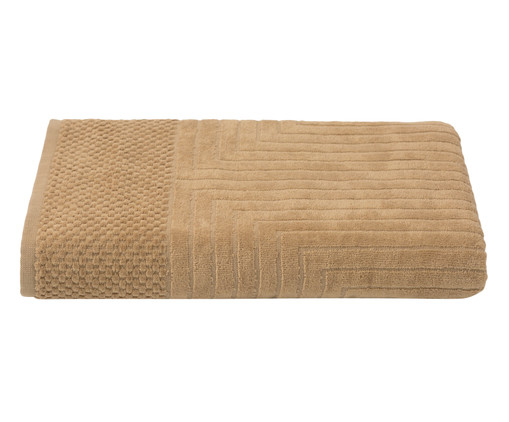 Toalha de Banho Esquadros Capim - 460 g/m², Bege | WestwingNow