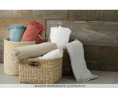 Colcha com Franja In Design em Algodão - Branco | WestwingNow