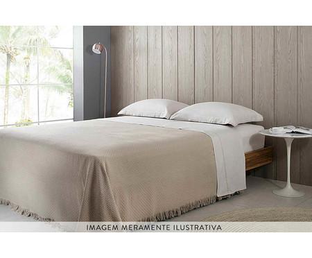 Colcha com Franja In Design em Algodão - Bege | WestwingNow