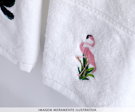 Jogo de Toalhas para Lavabo Flamingo e Baeira | WestwingNow