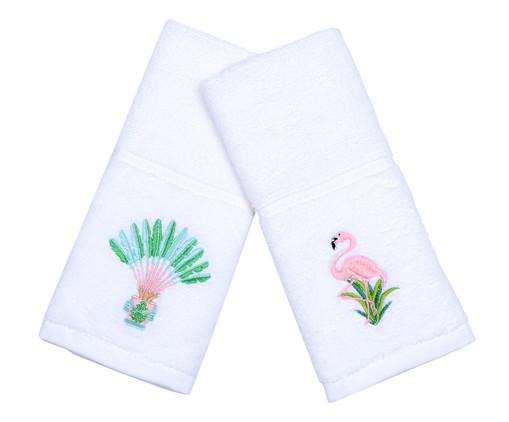 Jogo de Toalhas para Lavabo Flamingo e Baeira, Colorido | WestwingNow