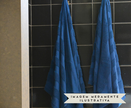 Jogo de Toalhas Listras Marinho - 460 g/m² | WestwingNow