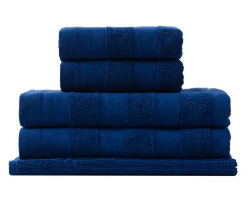 Jogo de Toalhas Listras Marinho - 460 g/m², Azul Marinho | WestwingNow