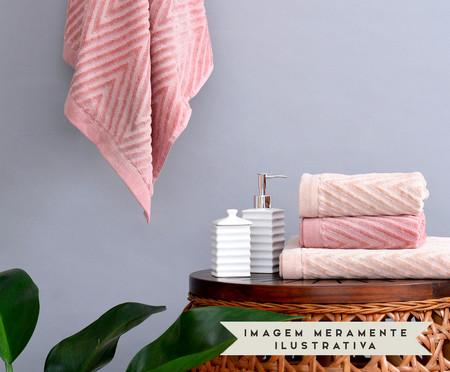 Jogo de Toalhas Espinha de Peixe 460 g/m² - Rosa | WestwingNow