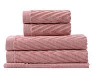 Jogo de Toalhas Espinha de Peixe Rosé - 460 g/m² | WestwingNow