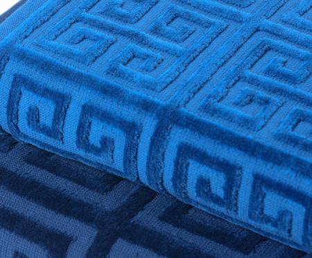 Jogo de Toalhas Chave Grega Azul Pacífico - 460 g/m² | WestwingNow