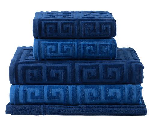 Jogo de Toalhas Chave Grega - Azul, Azul | WestwingNow
