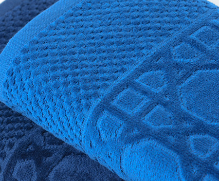 Jogo de Toalhas Thonet Azul Pacífico - 460 g/m² | WestwingNow
