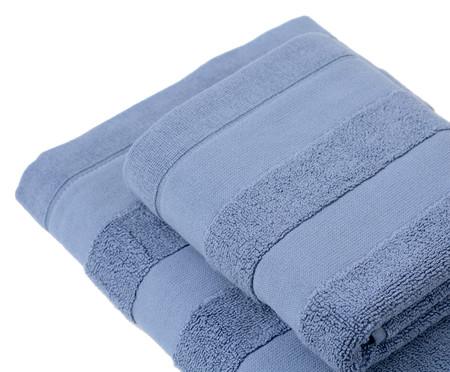 Jogo de Toalhas Listras - Azul | WestwingNow