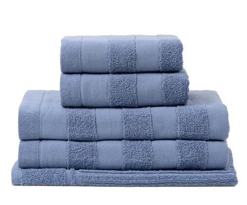 Jogo de Toalhas Listras Azul - 460 g/m², Azul | WestwingNow
