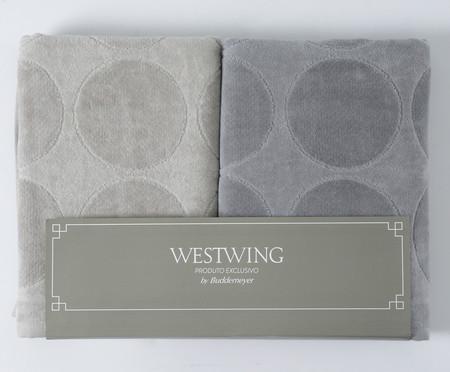 Jogo de Toalhas Cirkel Concreto Gris - 460 g/m² | WestwingNow