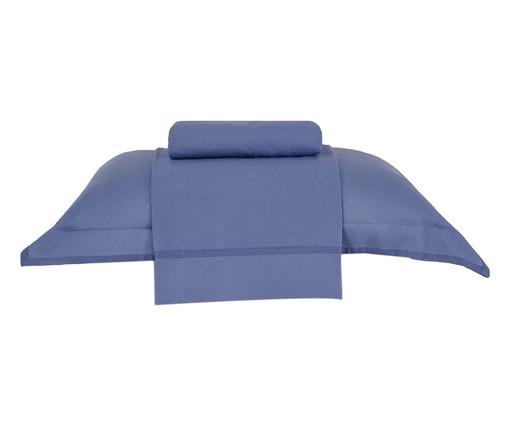 Jogo de Lençol Basic Premium Azul Escuro - 200 Fios, Azul   WestwingNow