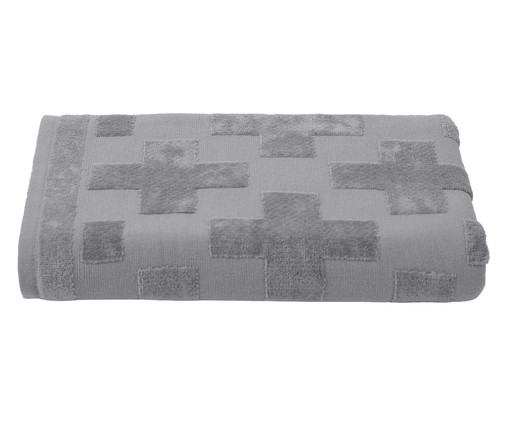 Toalha de Banho Mer Concreto - 460 g/m², Cinza | WestwingNow