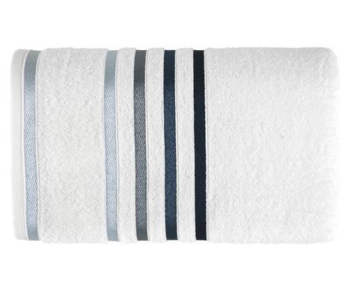 Toalha de Banho Lumina Branco e Azul - 500g/m², Azul | WestwingNow