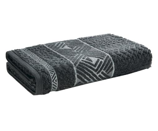 Toalha de Banho Norman Carbono - 450 g/m², Preto | WestwingNow